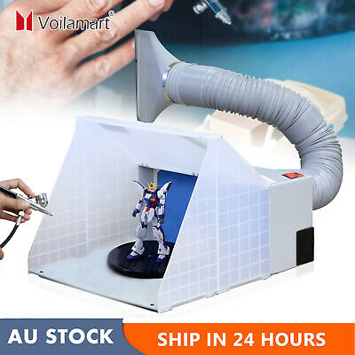 Portable Airbrush Spray Booth Hose Filter Extractor Air Brush Art Paint Craft