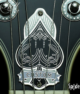 """""""SPADE"""" 2-Hole Truss Rod Cover. Fits most Gibson® LP, SG style guitars."""