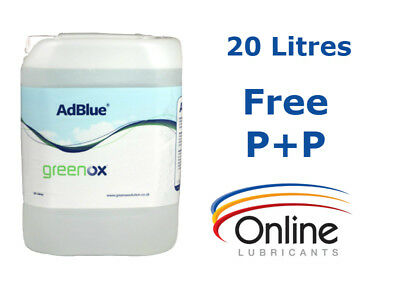 Greenox AdBlue 20 L 20 Litres & Pouring Spout ISO 22241 Euro 5 Euro 6 Commercial