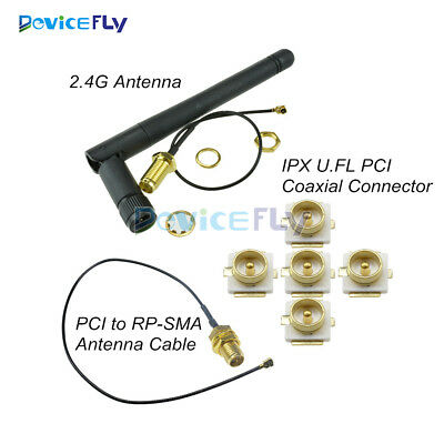 2.4G MIni IPX U.FL PCI to RP-SMA Antenna Wifi Extension Cable Coaxial Connector