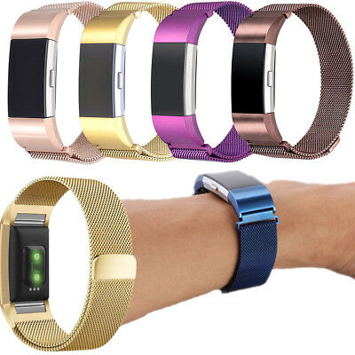 For Fitbit Charge 2 Replacement Magnetic Strap Loop Stainless Steel Wrist Band K