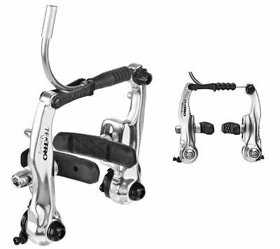 Tektro Tk-926Al Mini V-Brake Calipers Front & Rear Set Silver