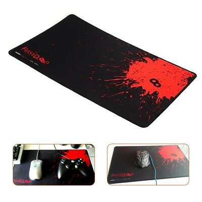 Black+Red Anti-Slip Mouse Mat Pad With Gaming Large Mouse Pad  & Laptop Uk