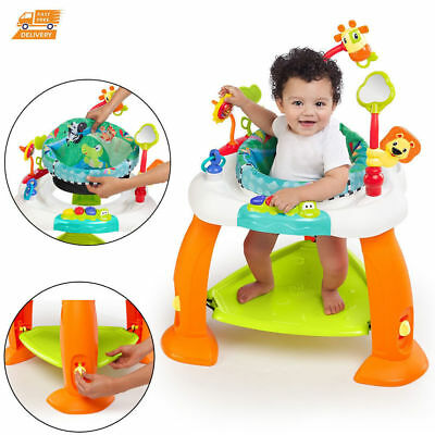 Baby Activity Jumper Bumper Chair Secure Bouncer Kids Toys Floor Exerciser Seat