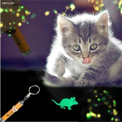 Cat Kitten Pet Toy LED Laser Lazer Pen Light With Bright Mouse Animation 98C7