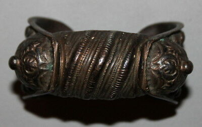 Antique Greek Medieval Bronze Fertility Folk Art Hand Made Bracelet