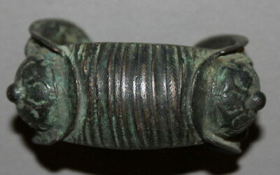 Antique Handcrafted Greek Orthodox Folk Bronze Fertility Bracelet