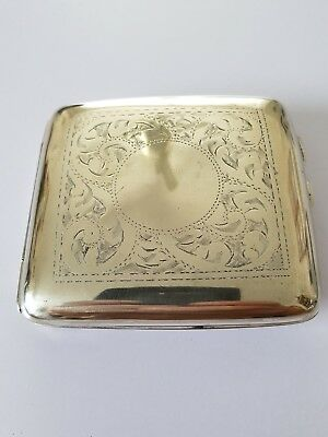 Silver Cigarette Case unreadable hallmarks except  for SML maybe polished too mu