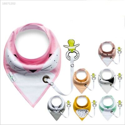 Random Color Baby Bibs Kids Chain Clip Holders Pacifier Soother Nipple D578
