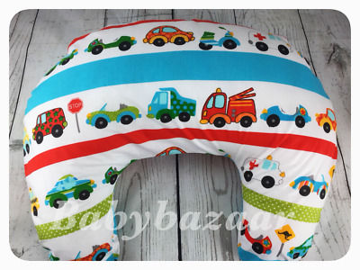 ✅ Baby Boy Cars Nursing Pillow Breast Feeding Support Maternity With Cover