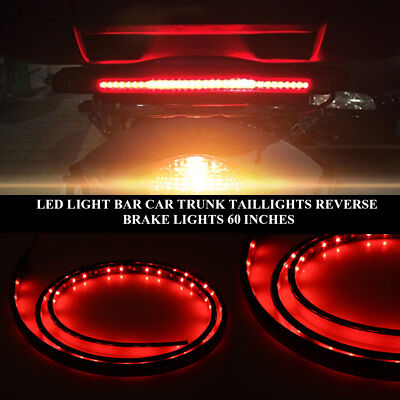 "Tailgate Light Universal 60"" Rad White Turn Signal Lamp Electric Tool LED Strip"