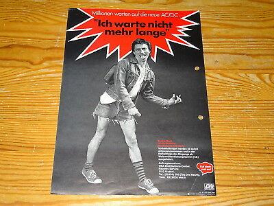 Ac/dc - Back In Black / 1-Din-A-4 Promo-Blatt Atlantic