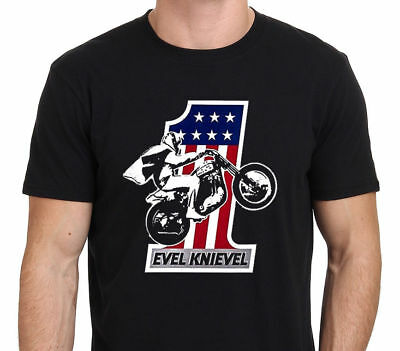 Evel Knievel America One Motorcycle aredevil Men's T-shirt FREE SHIPPING