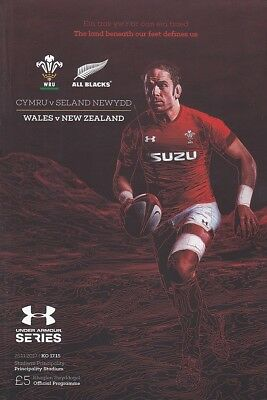 * WALES v NEW ZEALAND - INTERNATIONAL RUGBY PROGRAMME (25th November 2017) *