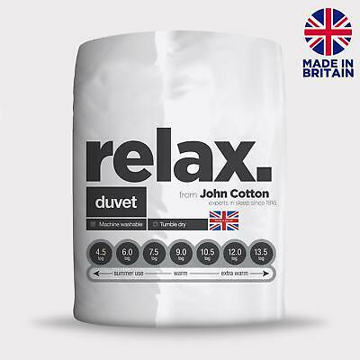 John Cotton Relax Hollowfibre Duvet - 4.5 Tog - Single, Double, King, Super King