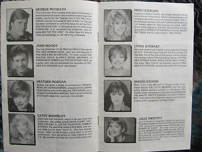 Groundlings comedy troupe program 1990 L.A. Lisa Kudrow Kathy Griffin