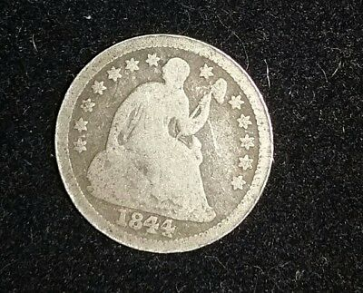 1844 O Liberty Seated Half Dime Good Silver Type Coin Key Date