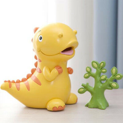 "6"" Cute Dinosaur Piggy Bank Money Coin Saving Box for Kids Children Gift Yellow"