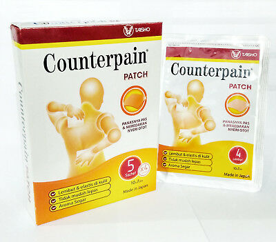 1Pack @4'S Counterpain patch Relief of muscular and joint pain