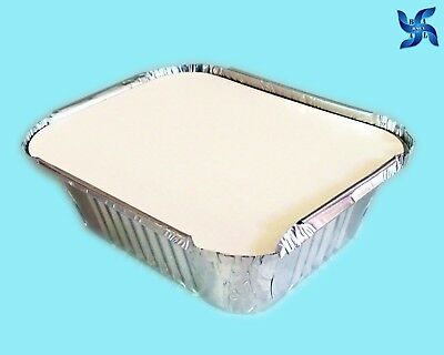 No2 ALUMINIUM FOIL FOOD CONTAINERS + LIDS PERFECT FOR HOME & TAKEAWAY USE