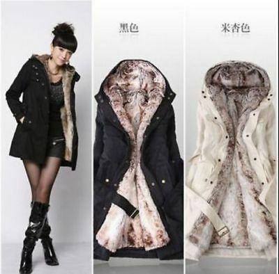 NEW Women Thicken Warm Winter Coat Hood Parka Overcoat Long Jacket Outwear