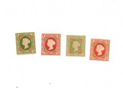 Heligoland Postage Stamps 1867-71  Hinged NG