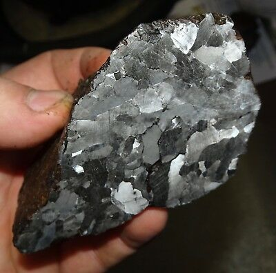 Beautiful 728 Gm. Etched Campo Del Cielo Meteorite End Cut