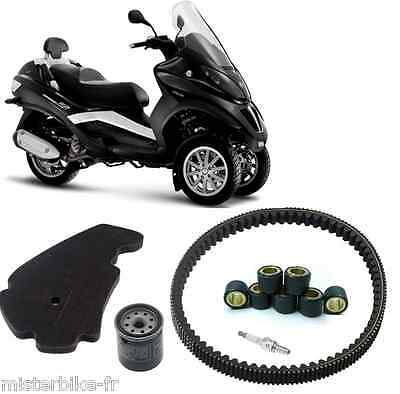 Pack Révision Piaggio MP3 400 ( courroie Galet Filtre Air/Huile Bougie)