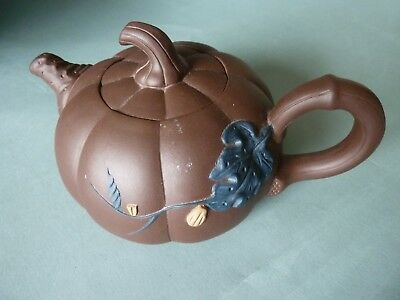 chinese tea pot Yixing late Quing Dynastie signed
