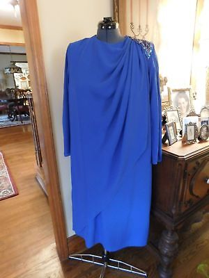 Beautiful Crepe Chiffon Plus Mother Of The Bride Or Groom Or Formal Dress Sz 20