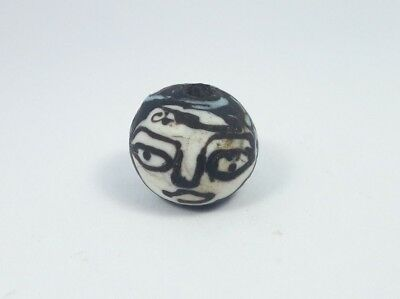 Roman Glass Bead|Ancient Glass Bead 20mm Ancient Roman Glass Face Bead