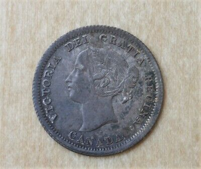 1858 Large Date Canada Five Cents Not Many Finer