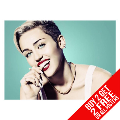 Miley Cyrus Poster Art Photo Print A4 A3 Size - Buy 2 Get Any 2 Free