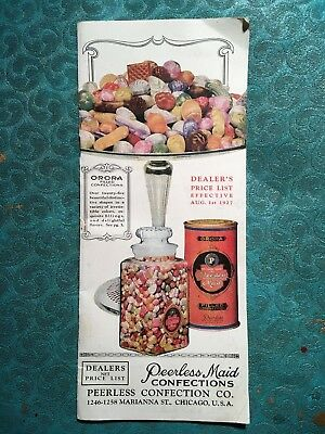 1927 Peerless Maid Confections, Orora 30-page Catalog, Chicago Glass Candy Jars