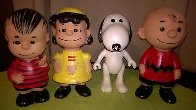 """Vintage 1958,1966 United Feature Synd. """"Peanuts Gang"""" Jointed Figure's 9"""" RARE!"""