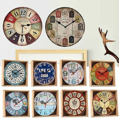 Shabby Chic Retro Kitchen Room Decoration Wall Clock Time
