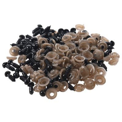 100Pcs 6mm Black Plastic Safety Eye Washers For Toy Eyes Puppet Doll Craft H4O8