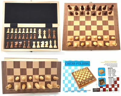 Folding Magnetic Wooden Chess High Quality Wood Finish Chess Board Set