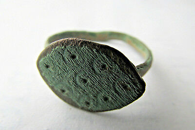 Ancient Magical eye  Roman Bronze Finger Ring 100-300 AD. (#15)