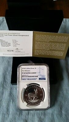 2018 1oz Silver PROOF Krugerrand PF69 FIRST RELEASES COA#'s 1100's In Hand USA!!