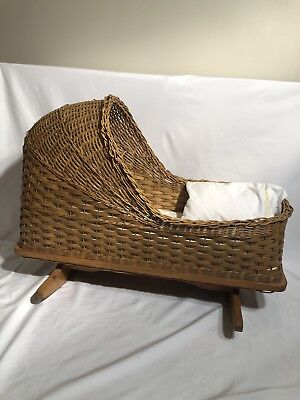 Handmade Baby Crib- For Dolls such as Bitty Baby Great Condition
