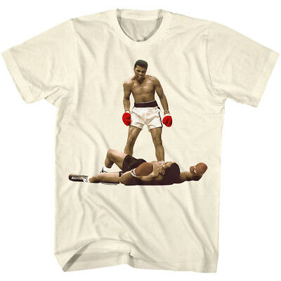 Muhammad Ali T-Shirt I Am The Greatest Over Liston Natural Tee