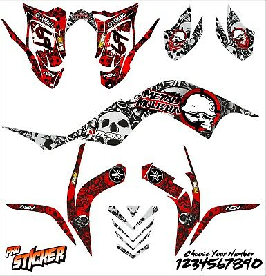Yamaha Raptor 700 06-12  graphic kit stickers decals atv graphics