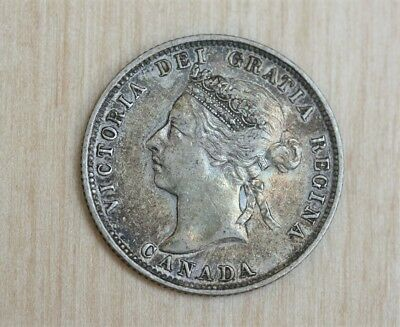 1901 Canada 25 Cents Original With Color And Detail