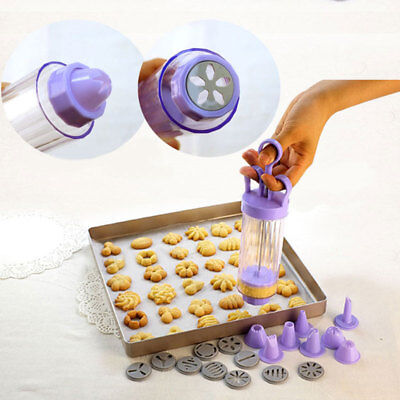 Cookies Modeling Cooking Baking Sugarcraft Mold Creamy Cylinder Nozzles Gun