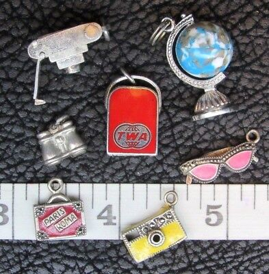 Sterling Silver Travel Charm Charms Figurine Pendant Miniature Your Choice!