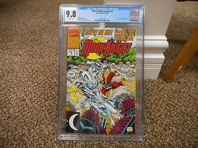 Moon Knight Special 1 cgc 9.8 Marvel 1992 WHITE pgs Shang Chi Master of Kung Fu
