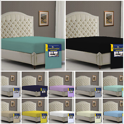 5* Luxury 400 Thread Count 100% Egyptian Cotton Fitted Bed Sheets, All Uk Sizes