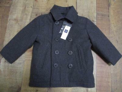 6d7950103175 BABY GAP NWT Charcoal Gray Wool Blend Peacoat Boy s 18-24 M  49.99 ...