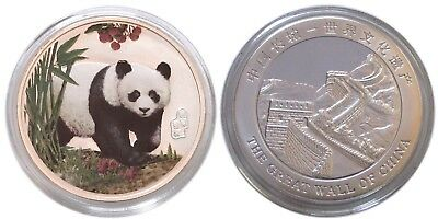 China Colorized Silvered Panda GEM BU Clad Coin - FREE Shipping!